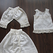 SOLD Wonderful 3-Piece Set of Doll Underwear