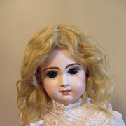 SOLD Blonde Mohair Doll Wig 11 1/2""