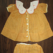 SALE PENDING Darling Vintage Dress Set For Bisque, Composition or Other Doll