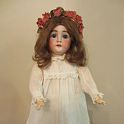 Early White Dress Or Gown For Bisque Or China Doll