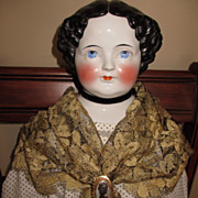 Beautiful Golden Mantilla Or Doll Shawl