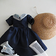Miss Revlon/Cissy Type Doll Outfit--Dress, Gloves, Hat, Stockings, Shoes, Panties