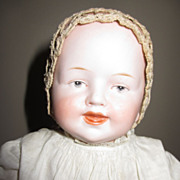 Very Early Tatted Baby Doll Bonnet