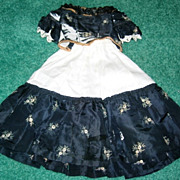 SALE TLC Navy Silk Blouse and Skirt for French Fashion or China