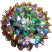 Alice Caviness Green Rivoli Crystal Brooch
