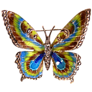 Alice Caviness Sterling Enamel  Butterfly Pin