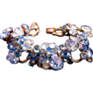 Vintage Delizza and Elster (AKA: Juliana, D & E) Blues Rhinestone Bracelet - Book Piece