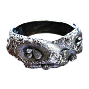 REDUCED Tortolani Desert Theme Silver Toned Clamper Bracelet