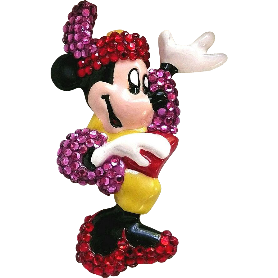 Wendy GELL Rhinestone Disney Minnie Mouse Pin