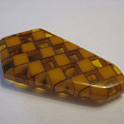 Bakelite Geometric Brooch/Dress Clip