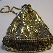 Vintage Gold Mesh Bottle Purse