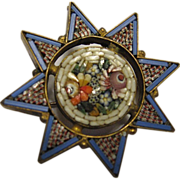 Micro Mosaic Star Brooch/Pin