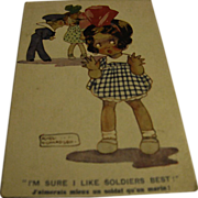 "Agnes Richardson Postcard - ""I'm Sure I like Soldiers Best"""