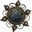 Forget-Me-Not Micro Mosaic Brooch