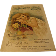 Hoyt's German Cologne Rubifoam for Teeth Postcard
