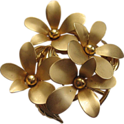 Large Signed Weiss Flower Brooch
