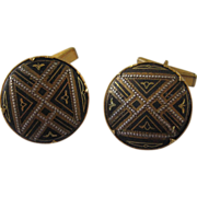 Art Deco Style Geometric Cuff Links