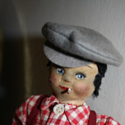 Adorable Jackie Coogan &quot;The Kid&quot; Cloth Smoker Doll