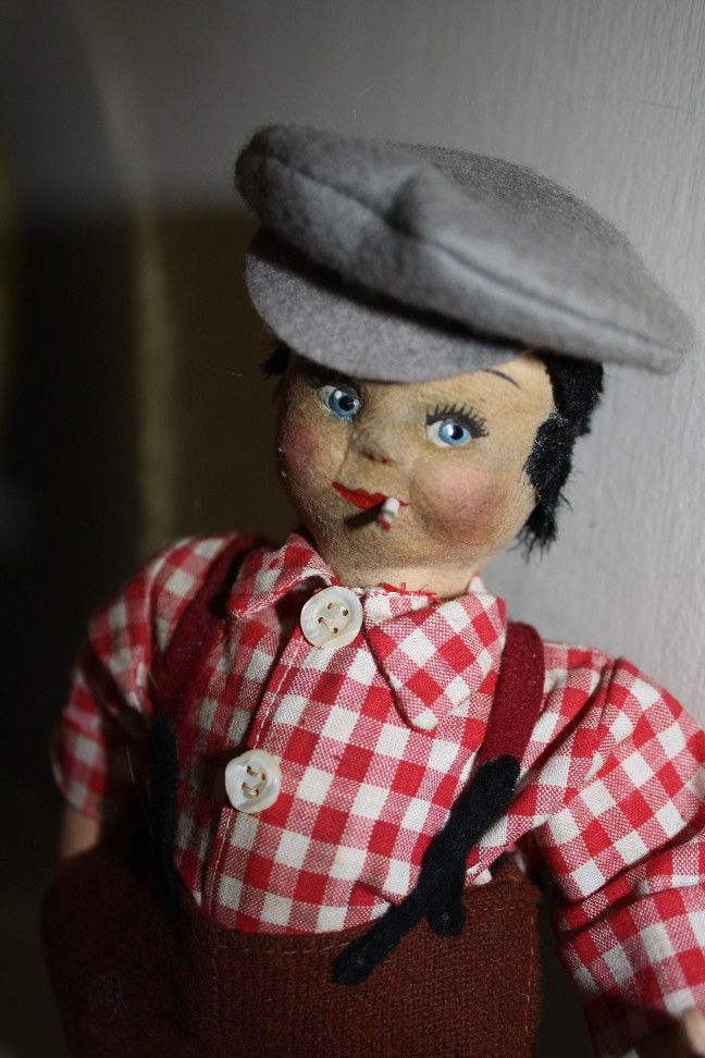 "Adorable Jackie Coogan ""The Kid"" Cloth Smoker Doll"