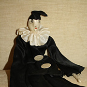 SALE Wonderful Vintage All Original Silk Pierrot