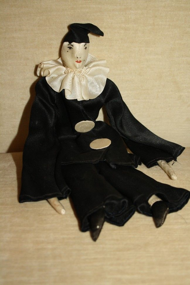 Wonderful Vintage All Original Silk Pierrot