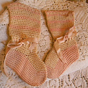 Antique Baby Booties From Early 1900's