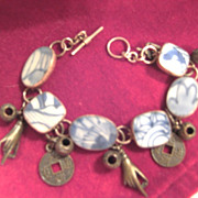 Vintage Sterling Chard Charm Bracelet With Metal Charms