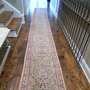 "Antique 1900's Floral Print 18' 3"" long runner"