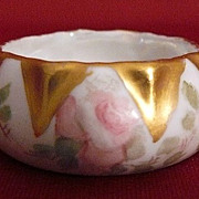 Porcelain D&C salt dish cellar hand painted Limoges