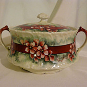 Hand painted Limoges cracker biscuit jar by T&V french porcelain