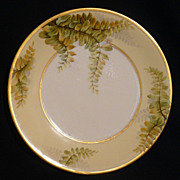 """Luc"" T&V artist of Limoges porcelain plate of ferns"