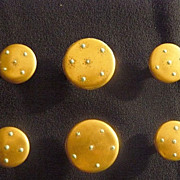 Victorian button studs in hand painted porcelain