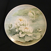 Hand painted Haviland plate floating lotus plate