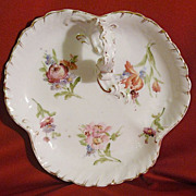 Pairpoint Limoges hand painted  clover-shaped tray