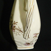 Porcelain Limoges pitcher, rare C.V.& Cie  (Free Shipping)