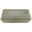 Antique French Silver Gilt Table Snuff Box Chased Foliate Motif