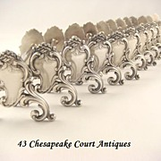 SOLD Antique French Knife Rests French Silver Plate Set of 12 Rococo