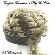 SOLD Antique English Barrister's Wig with Original Tole Case
