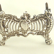 Antique English Sterling Silver Menu Place Card Holders Rococo Inspired