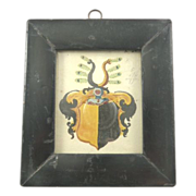 Antique Framed Coat of Arms Hand Painted
