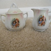 SALE Vintage Child's Creamer and Sugar