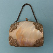 SALE Vintage Mother of Pearl Doll Purse