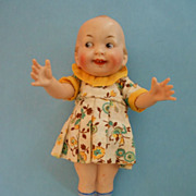 "6.5"" Wide Awake All Bisque Doll"