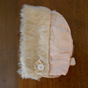 Antique Silk and Fur  Bebe Bonnet