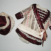 "3 pc. silk Ensemble for your 12""-13"" French Bebe'"