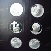 REDUCED The Genius of Michelangelo � Vintage Set of 60 Sterling Silver Franklin Mint Art ...