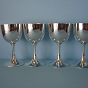 Antique Japanese Meiji Period Pure Silver Set of 4 Sake or Liquor Goblets by Hattori ...