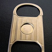 Nice Antique Solid 10k Gold Cigar Cutter