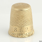 Vintage Antique Thimble Size 8 - 10k Yellow Gold Solid Sewing Estate 3.3g Pitted