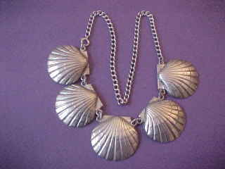 Arts crafts lillian pines sterling silver scallop shell - Scallop shells for crafts ...